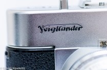 Voigtlander Vito B viewfinder camera showing voigtlander badge