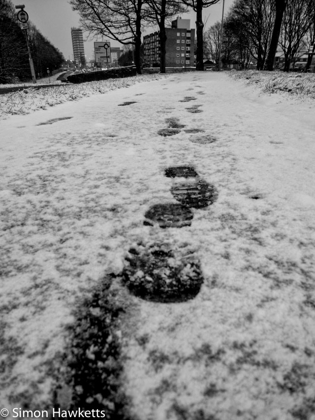 Mobile phone pictures - Footsteps in the snow