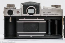 Miranda Automex III 35mm SLR camera showing film chamber