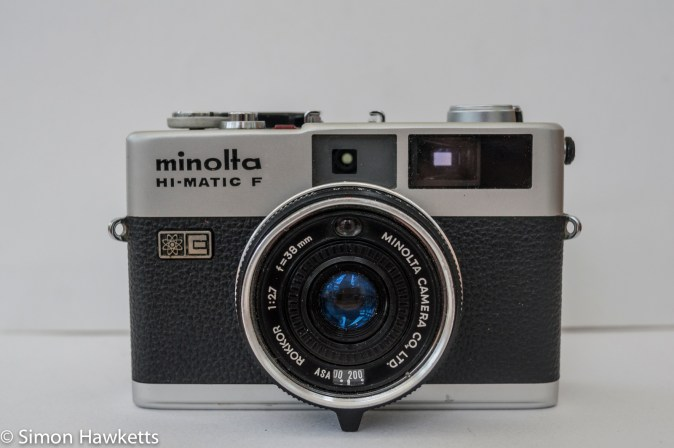 Minolta Hi-Matic F 35mm rangefinder camera