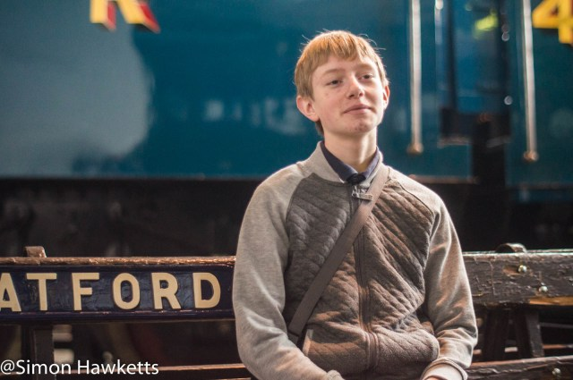 Nation Railway Museum pictures - A boy relaxing