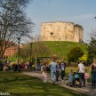 A view of Cliffords Tower in York