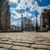 The cobbles stones and gate which leads to York Minster