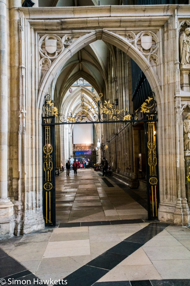 Sony Nex 6 pictures - A stone archway in York Minster