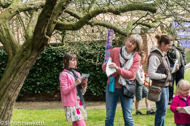 Beningborough Hall pictures - Family doing the Easter Egg Hunt