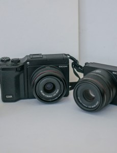 Ricoh GXR family showing body and several sensor units