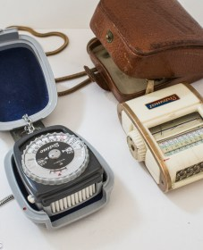 A handful of Gossen light meters 1