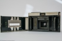 Kodak Instamatic 300 126 film camera showing film cartridge chamber