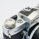 Miranda Sensorex II 35mm slr - shutter speed view window on viewfinder
