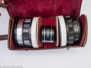 Taron Unique 35mm rangefinder camera add on lenses