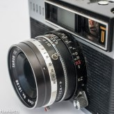 Taron Unique 35mm rangefinder camera sync socket and focus arm