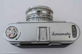 Voigtlander Dynamatic II 35mm rangefinder camera showing cold shoe accessory port