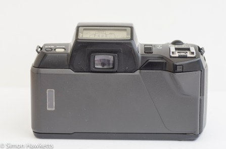 Pentax SF10 35mm slr showing back of camera