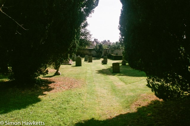 Pentax SFXn sample pictures - Bourton-on-the-water graveyard