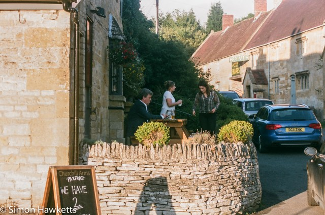 Pentax SFXn sample pictures - The Pub garden