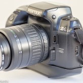 Pentax Z-1 35mm autofocus slr showing auto focus switch and remote socket