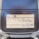 Pentax Z-1 35mm autofocus slr showing LCD with compensation dialled in