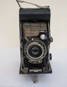 Ensign Selfix 20 showing front view with lens open