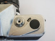 Kowa SE 35mm slr showing frame counter, film advance and shutter release