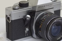Praktica LTL 35mm SLR showing self-timer, shutter release and stop down lever for metering