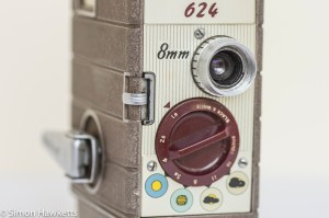 Bell and Howell 624 8mm movie camera controls