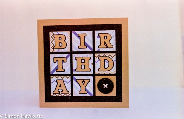 Digibase c41 processing results - Birthday card my wife made