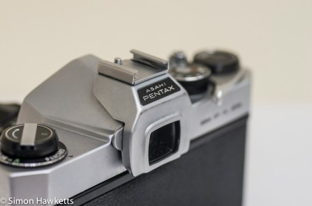 Pentax Spotmatic SP clip on flash adaptor