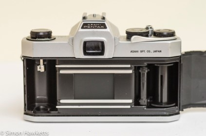 Pentax Spotmatic SP film chamber