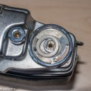 Agfa Ambi Silette 35mm rangefinder top cover removal - Remove this washer