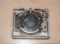 Agfa Ambi Silette shutter repair - lens unit removed from front of camera