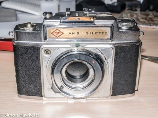 Agfa Ambi Silette shutter repair - Top cover back on