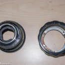 Auto Takumar 55mm f/2.2 strip down - Helicoid unscrewed from the lens base
