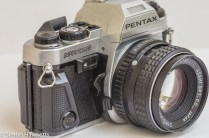 Pentax Super Program 35mm slr - lens release, dof preview and se