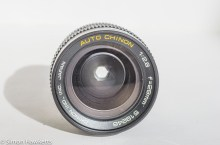 Auto Chinon 28mm f/2.8 M42 lens - front view