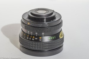 Auto Chinon 28mm f/2.8 M42 lens - lens mount