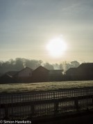 Chinon 28mm f/2.8 M42 lens samples - Sun over the golf course