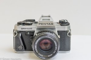 Pentax Super Program 35mm slr with lens