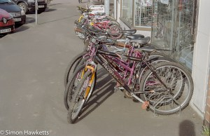 Pentax Super Program sample pictures - Cycles outside the cycle shop