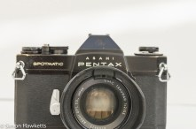 Pentax Spotmatic SPII in black with lens attached