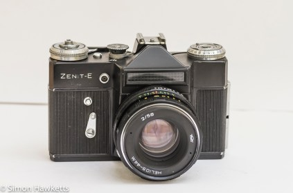 Zenit E 35mm slr camera with Helios 44m lens