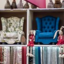 Rabbits and chairs at the Ideal Home show
