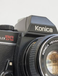 Konica Autoreflex TC with lens fitted