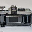 Olympus OM-2 35mm slr - rear view showing film chamber
