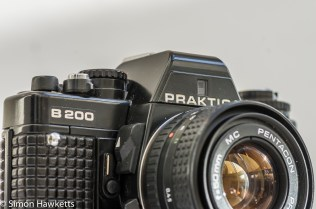 Praktica B200 electronic 35mm slr camera with Pentacon 50mm f/1.8 lens