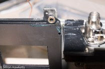 Ricoh singlex TLS strip down and repair - the other top screw hole which keeps the shutter in place