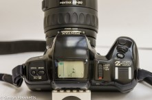 Top control layout of the Pentax Z-20