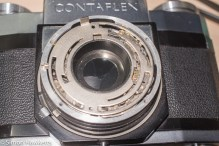 Zeiss Ikon Contaflex alpha - speed selector plate in place