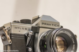 Praktica MTL 5B 35mm slr camera - front view with chinon lens