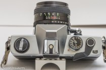 Praktica MTL 5B 35mm slr camera - top view showing control layout