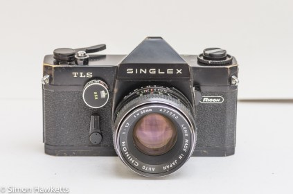 Ricoh Singlex TLS 35mm single lens reflex camera front view